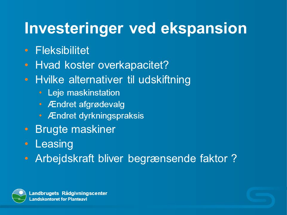 Investeringer ved ekspansion