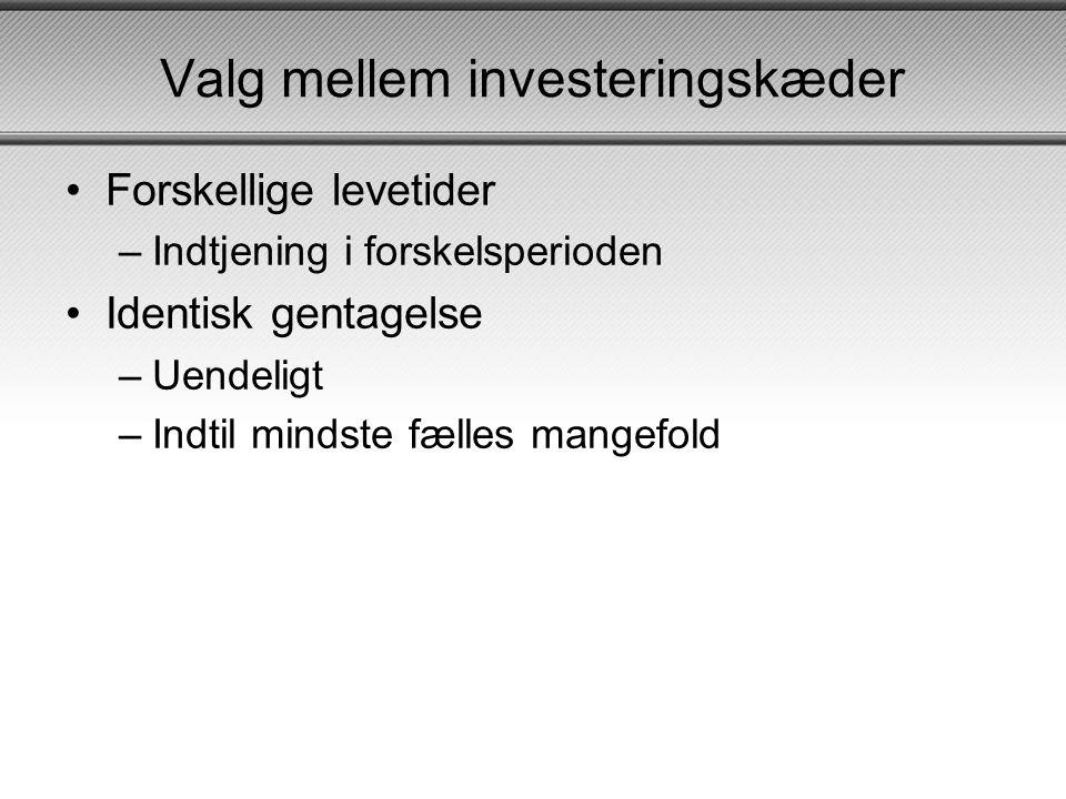 Valg mellem investeringskæder