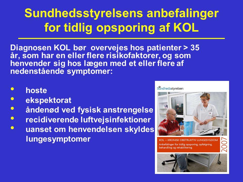Sundhedsstyrelsens anbefalinger for tidlig opsporing af KOL