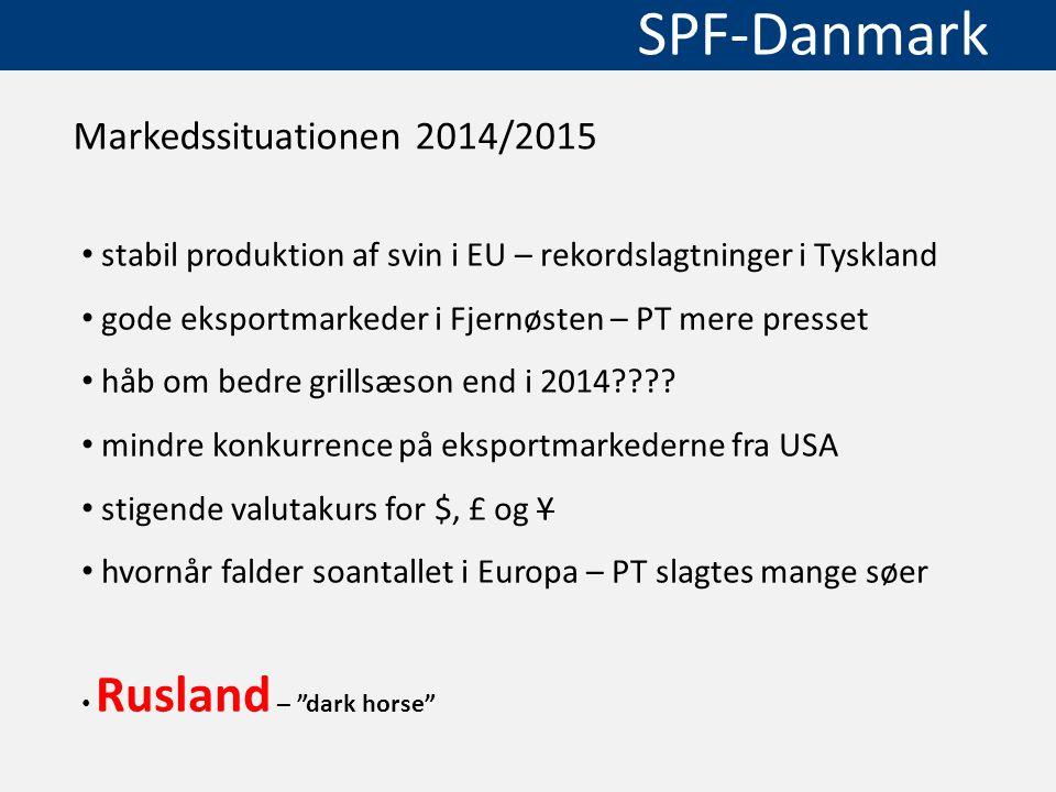 Markedssituationen 2014/2015 stabil produktion af svin i EU – rekordslagtninger i Tyskland. gode eksportmarkeder i Fjernøsten – PT mere presset.