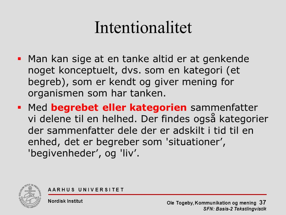 Intentionalitet