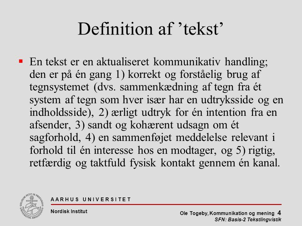 Definition af 'tekst'