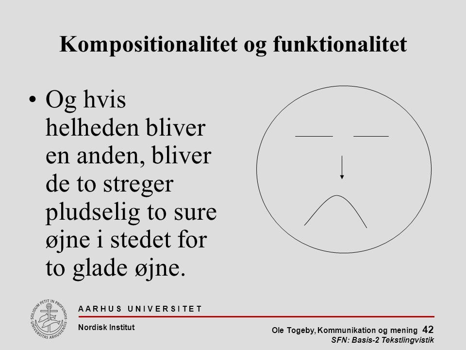 Kompositionalitet og funktionalitet