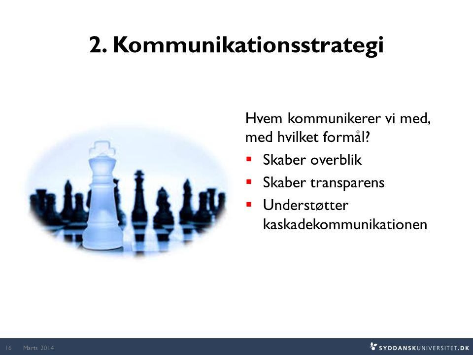 2. Kommunikationsstrategi