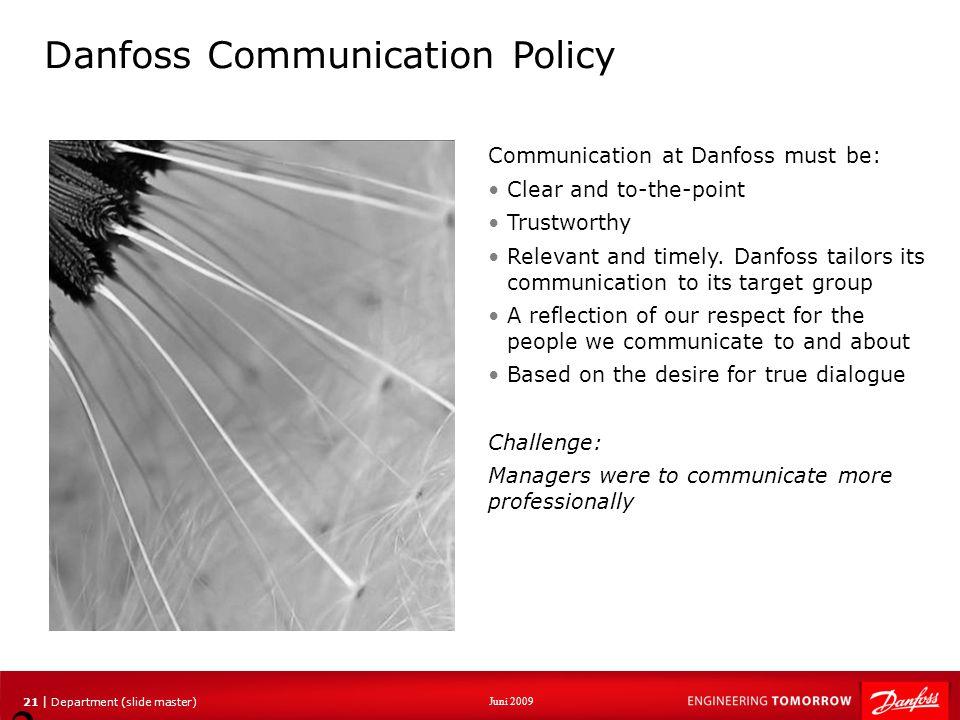 Danfoss Communication Policy