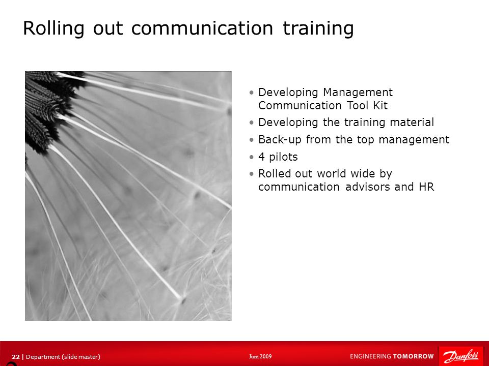 Rolling out communication training
