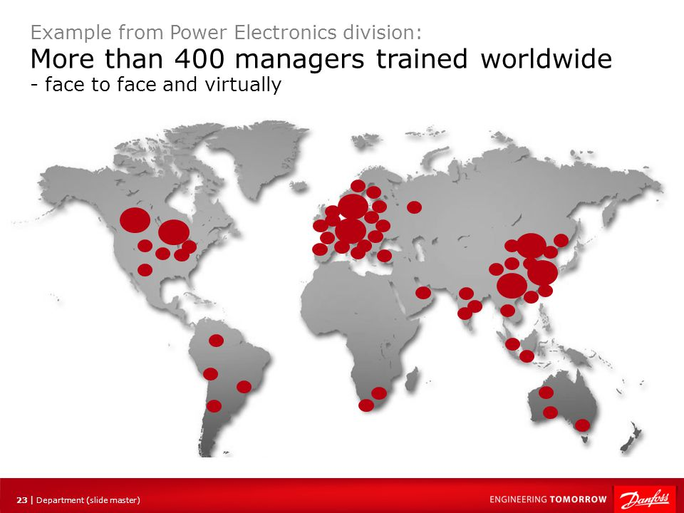 More than 400 managers trained worldwide