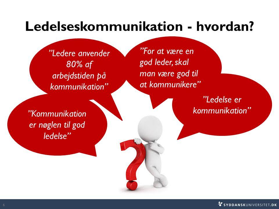 Ledelseskommunikation - hvordan