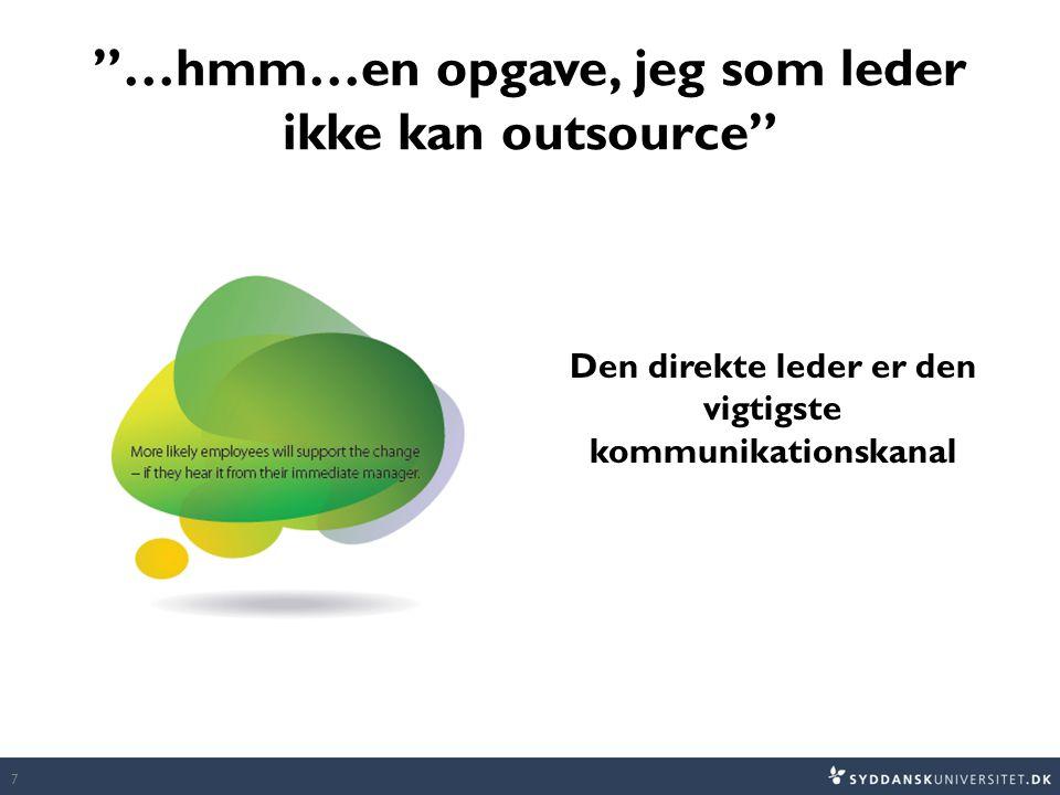 …hmm…en opgave, jeg som leder ikke kan outsource