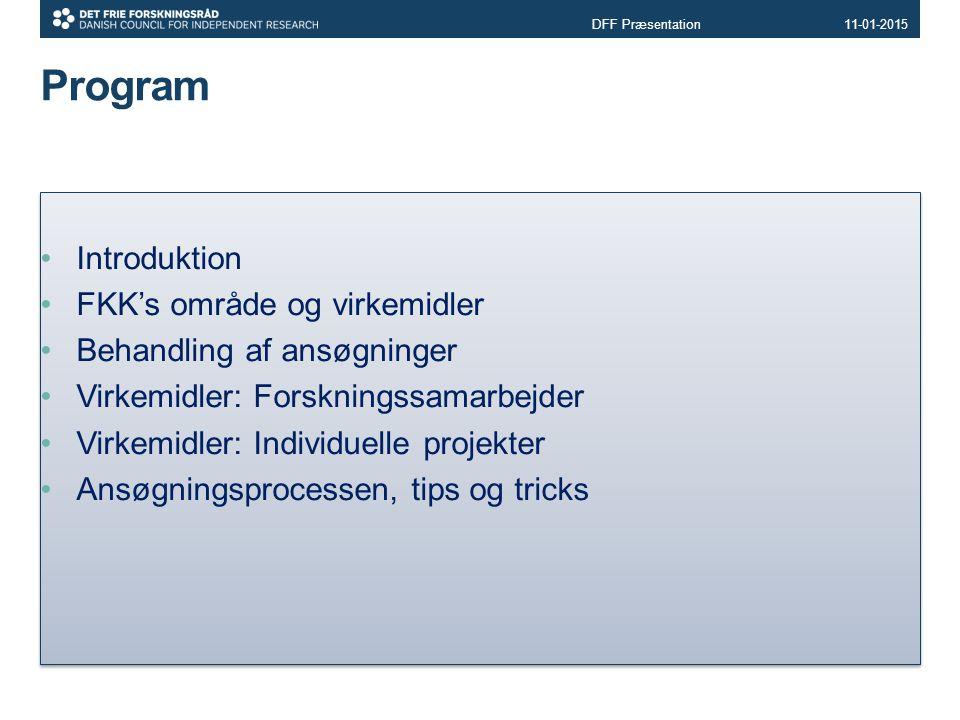 Program Introduktion FKK's område og virkemidler