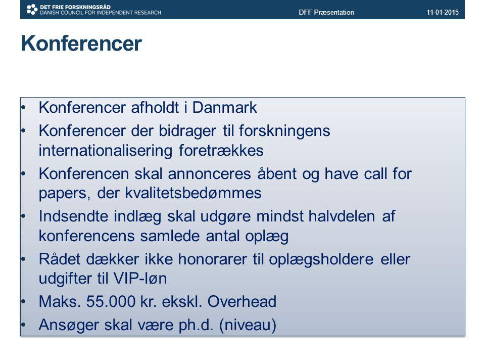 Konferencer Konferencer afholdt i Danmark