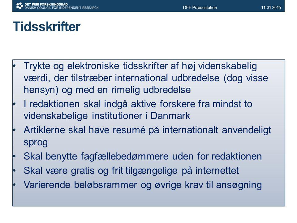 DFF Præsentation 08-04-2017. Tidsskrifter.