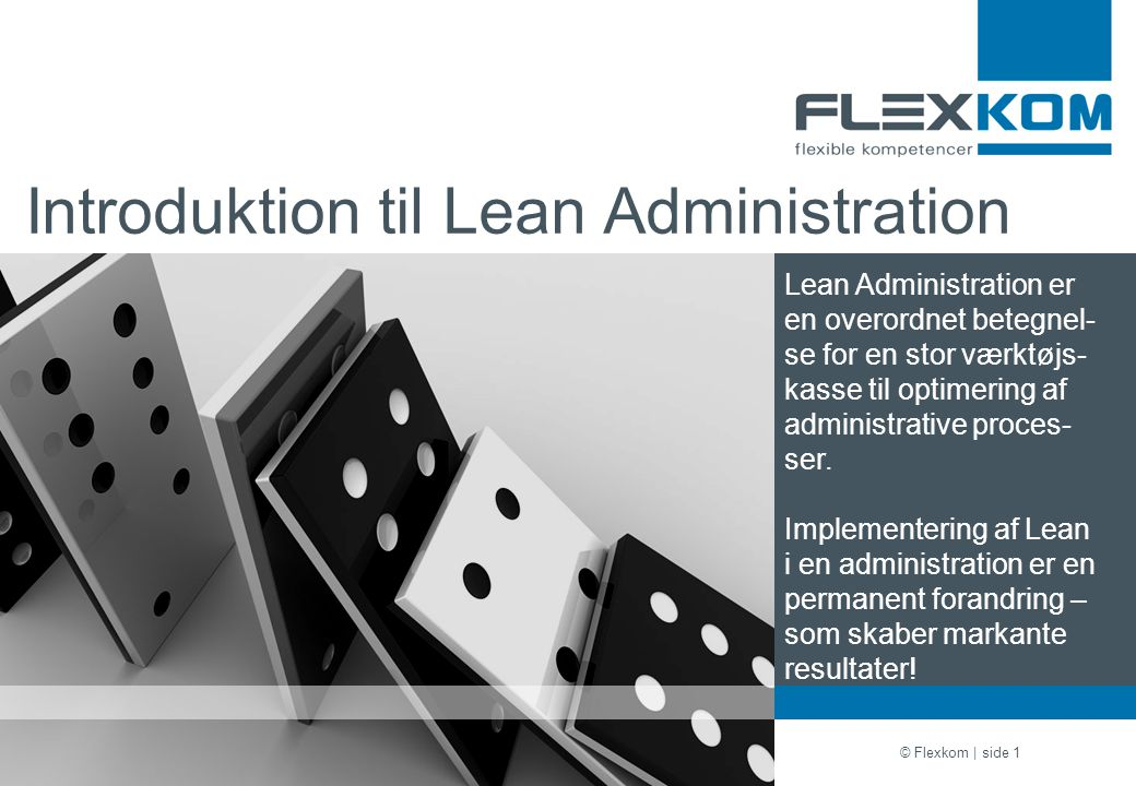 Introduktion til Lean Administration
