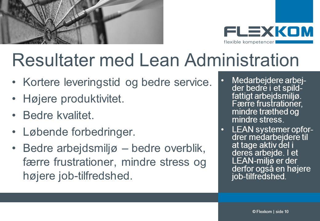 Resultater med Lean Administration