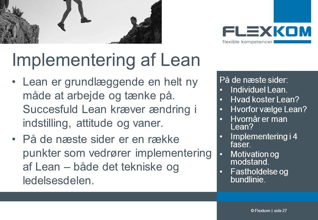 Implementering af Lean