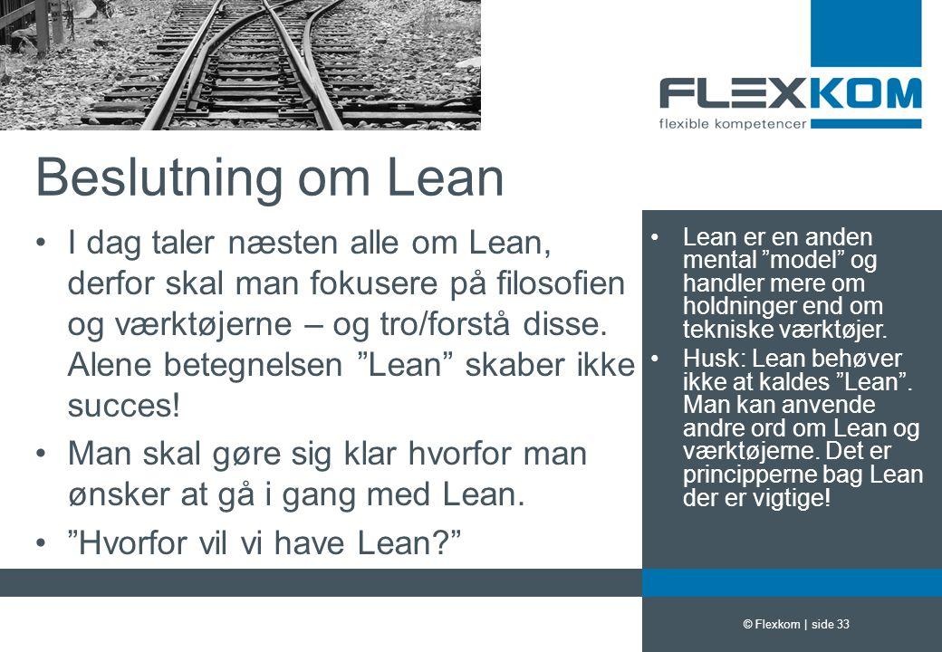 Beslutning om Lean