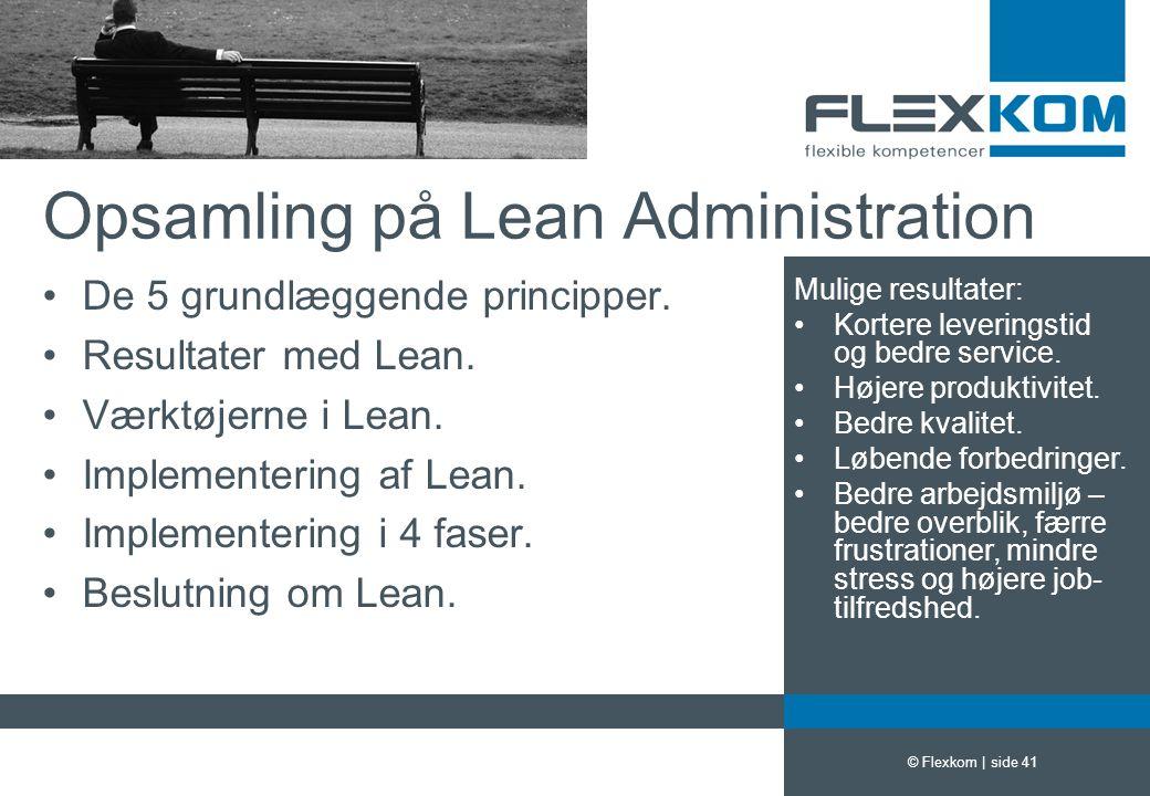 Opsamling på Lean Administration