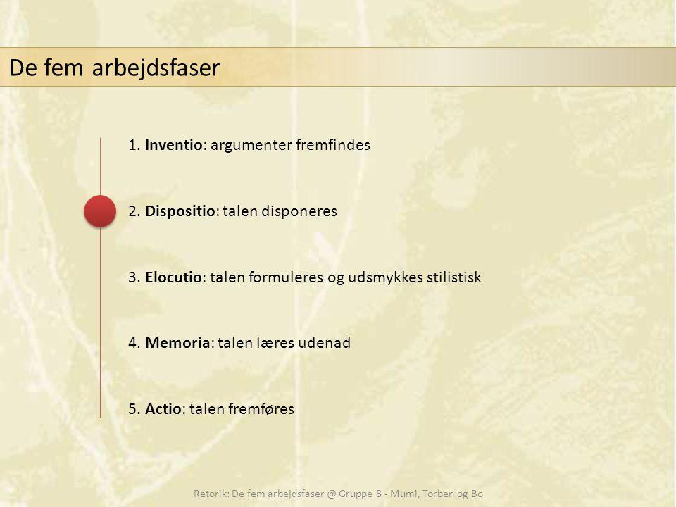 Retorik: De fem arbejdsfaser @ Gruppe 8 - Mumi, Torben og Bo