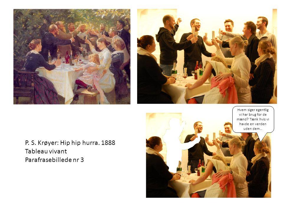 P. S. Krøyer: Hip hip hurra. 1888 Tableau vivant Parafrasebillede nr 3