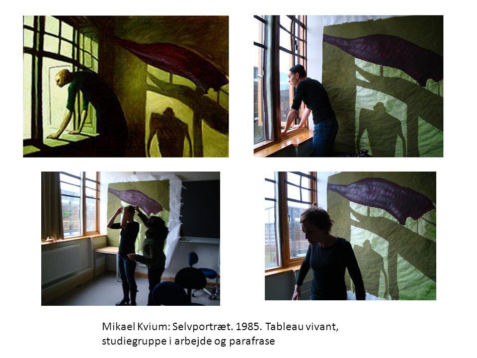 Mikael Kvium: Selvportræt. 1985