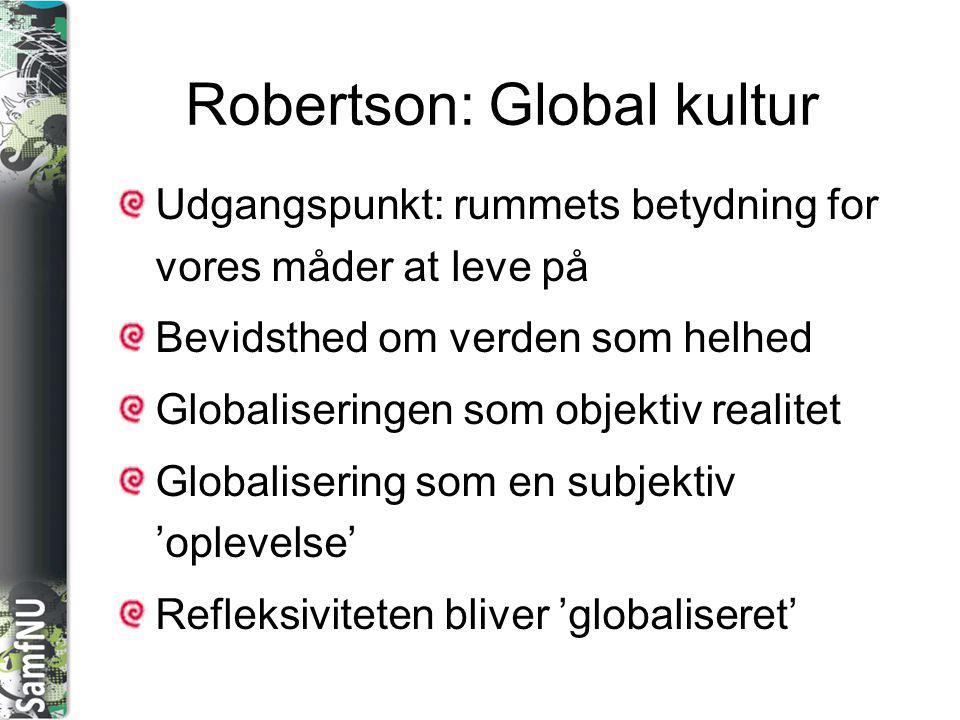 Robertson: Global kultur