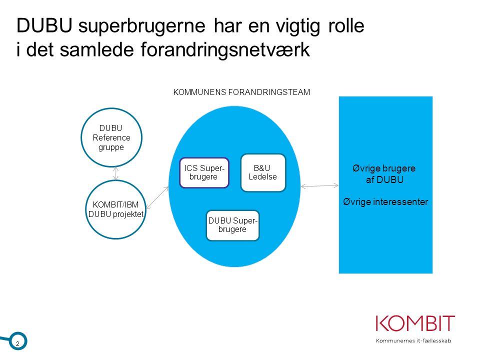 DUBU superbrugerne har en vigtig rolle i det samlede forandringsnetværk