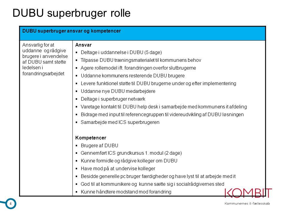 DUBU superbruger rolle