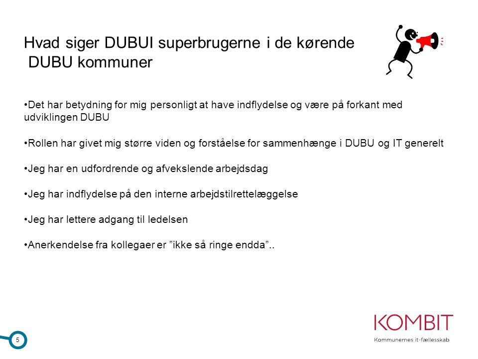 Hvad siger DUBUI superbrugerne i de kørende DUBU kommuner