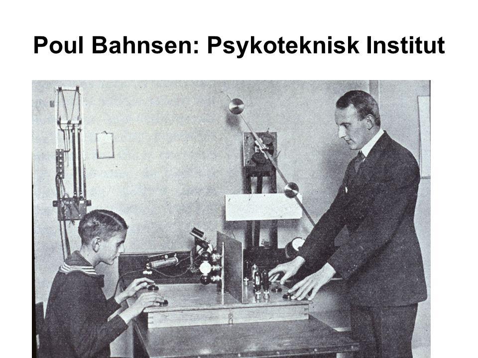 Poul Bahnsen: Psykoteknisk Institut
