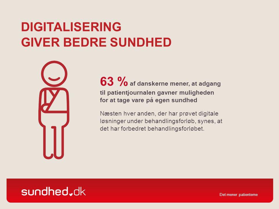 Digitalisering giver bedre sundhed