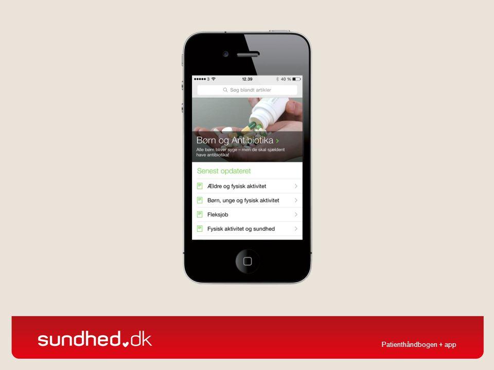 Patienthåndbogen kan desuden downloades som app til smartphones.
