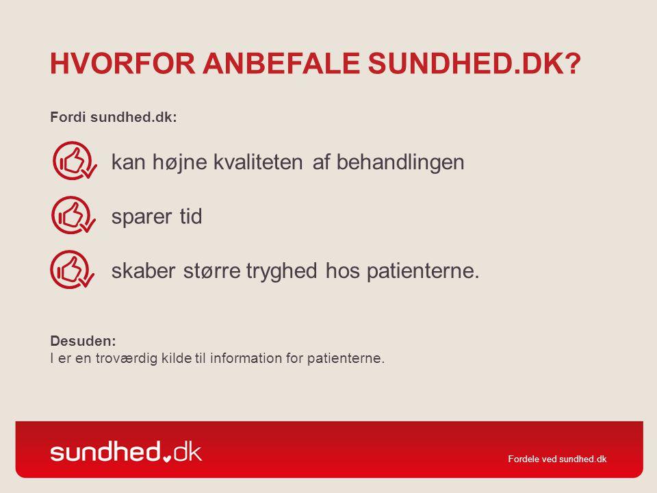 Hvorfor anbefale sundhed.dk