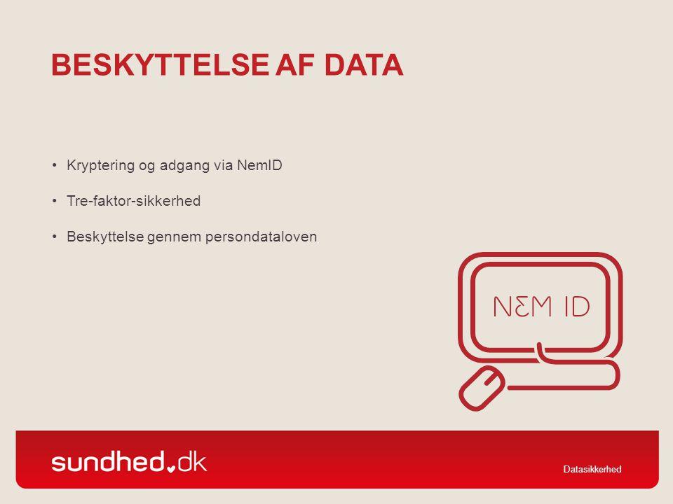 Beskyttelse af data Kryptering og adgang via NemID