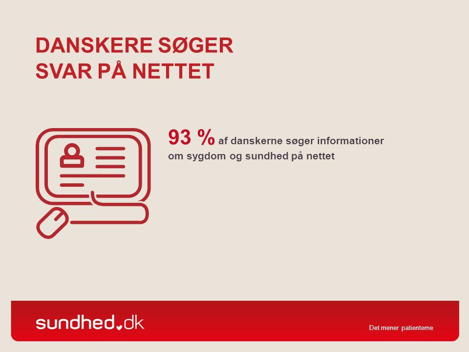 Danskere søger svar på nettet