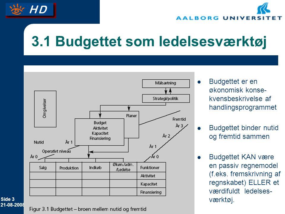 3.1 Budgettet som ledelsesværktøj