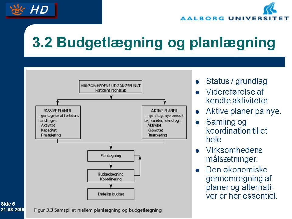 3.2 Budgetlægning og planlægning