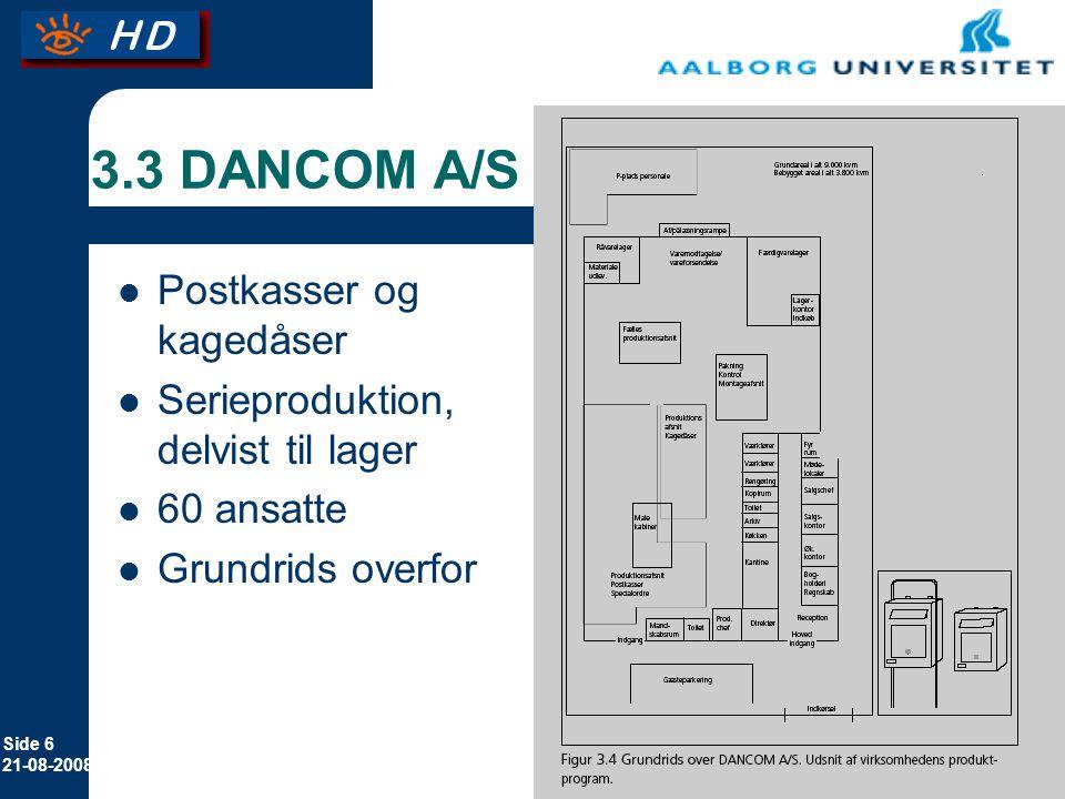 3.3 DANCOM A/S Postkasser og kagedåser
