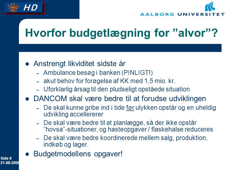 Hvorfor budgetlægning for alvor