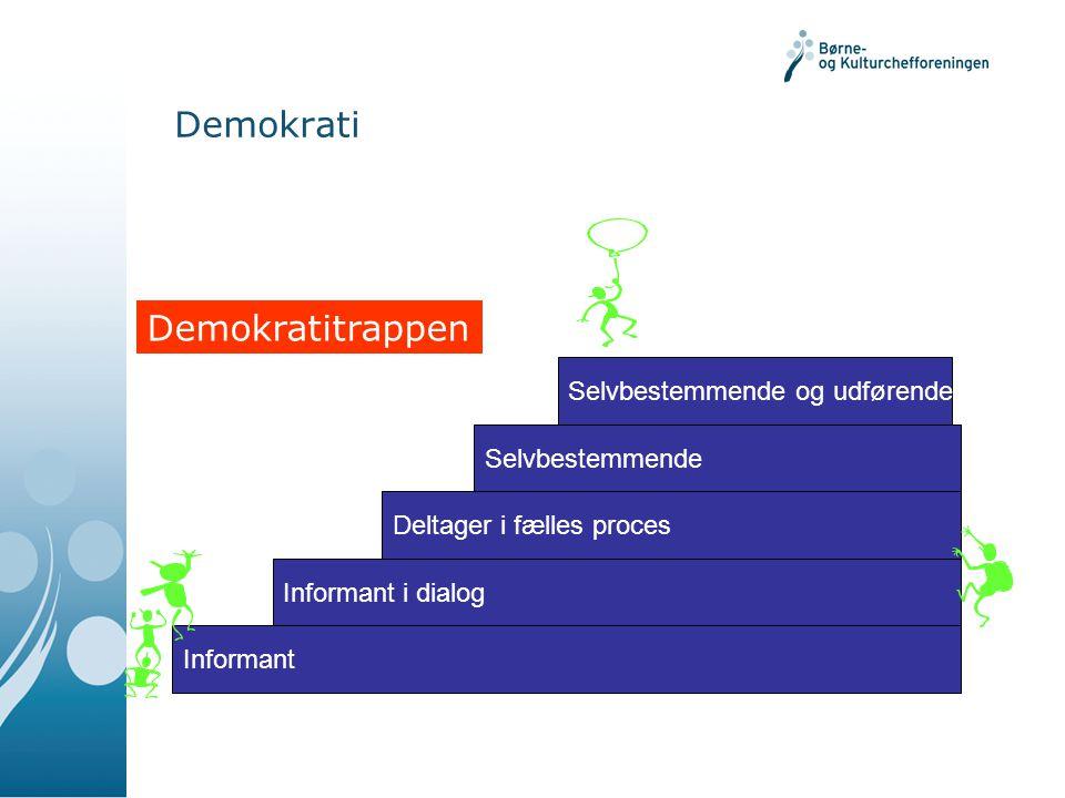 Demokrati Demokratitrappen Selvbestemmende og udførende h