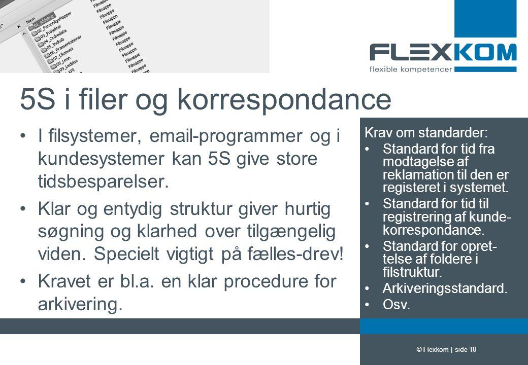 5S i filer og korrespondance