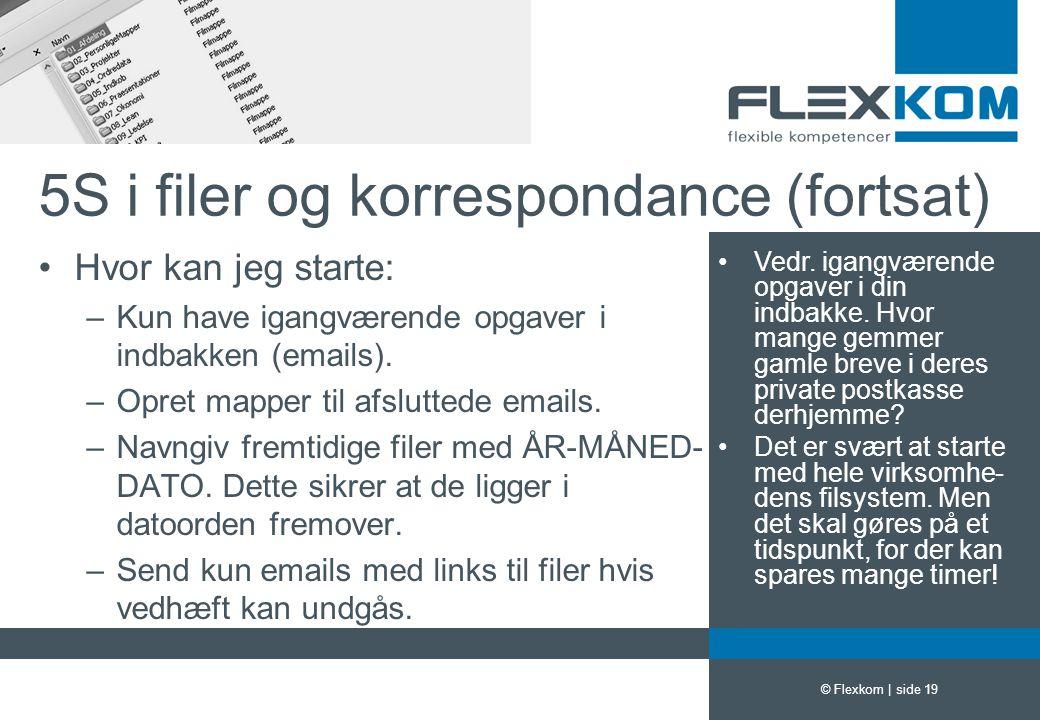 5S i filer og korrespondance (fortsat)
