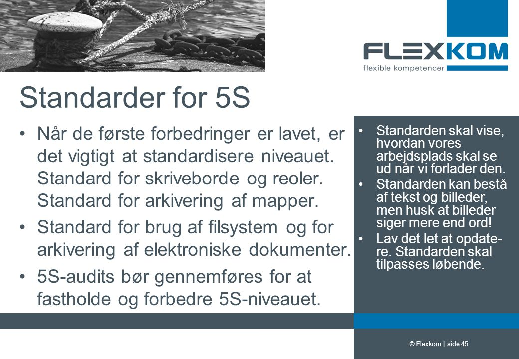 Standarder for 5S