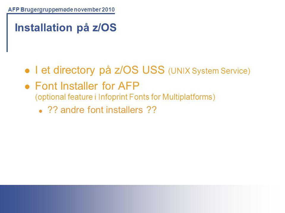 I et directory på z/OS USS (UNIX System Service)