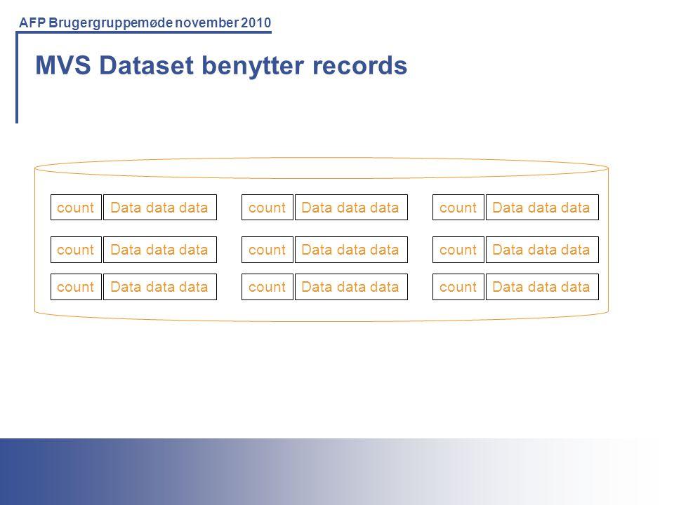MVS Dataset benytter records
