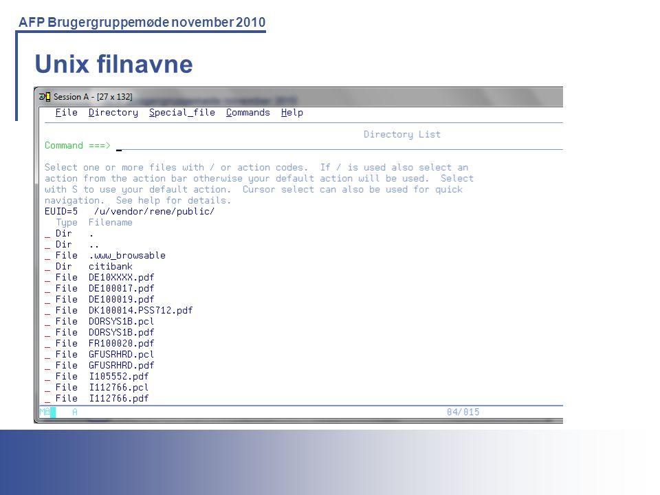 Unix filnavne