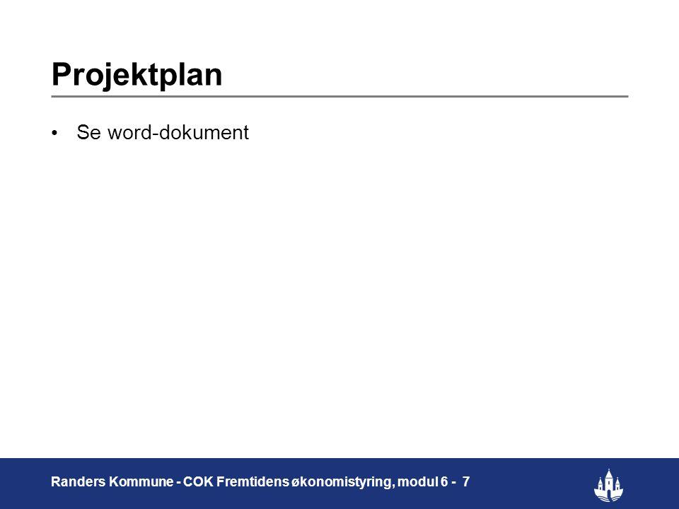 Projektplan Se word-dokument