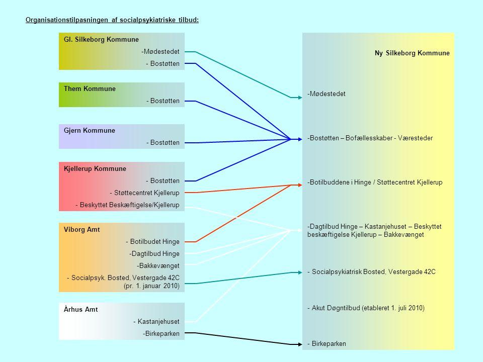Organisationstilpasningen af socialpsykiatriske tilbud: