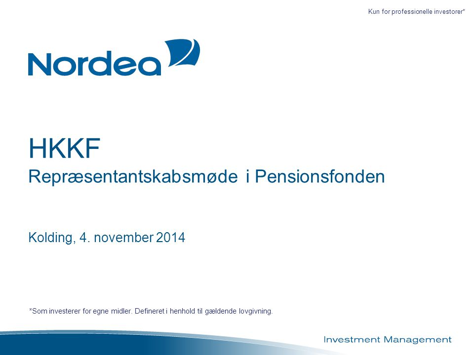 HKKF Repræsentantskabsmøde i Pensionsfonden