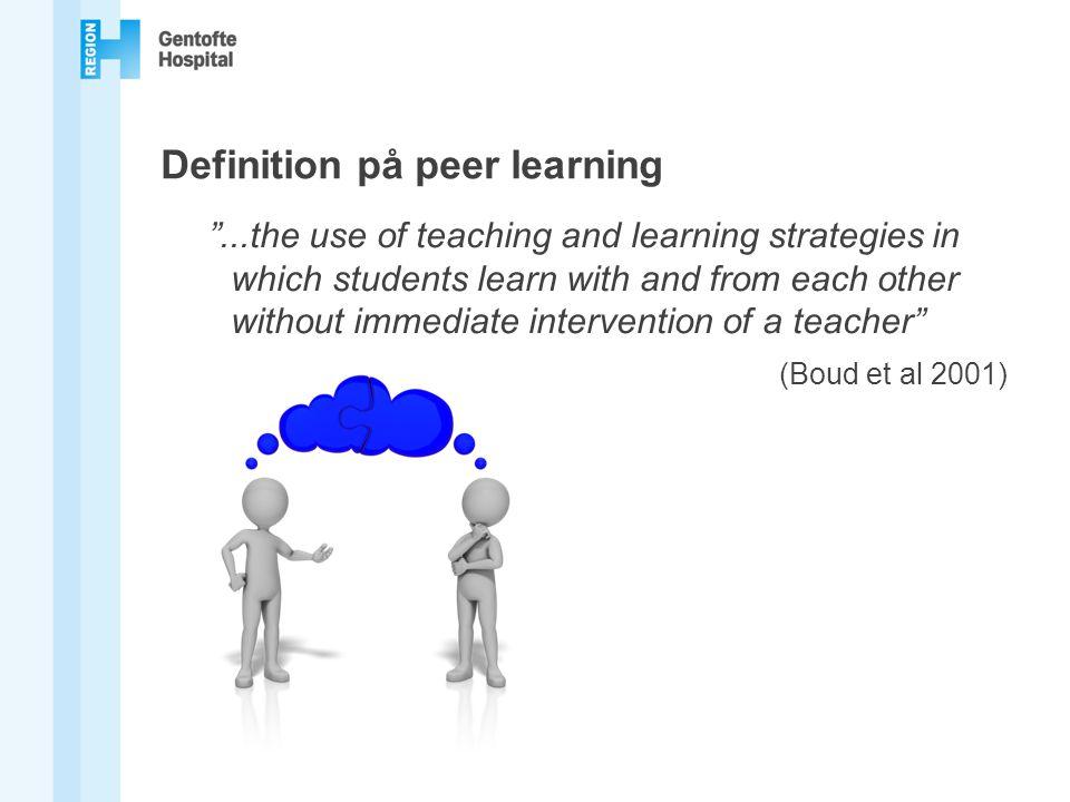 Definition på peer learning