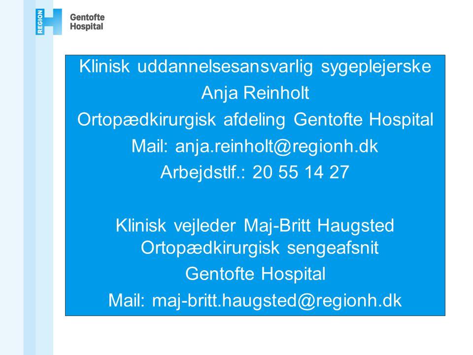 Klinisk uddannelsesansvarlig sygeplejerske Anja Reinholt